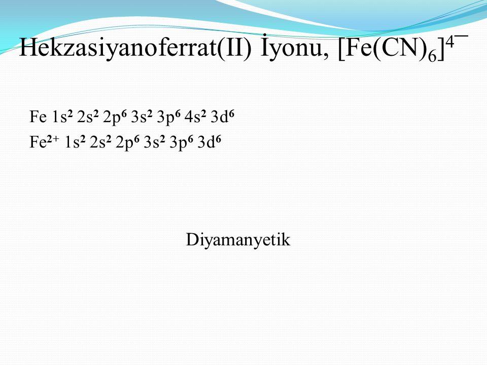 Hekzasiyanoferrat(II) İyonu, [Fe(CN)6]4¯